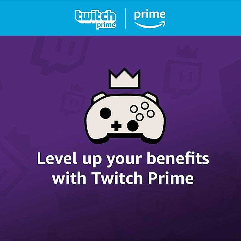 Level up your benefits with Twitch Prime