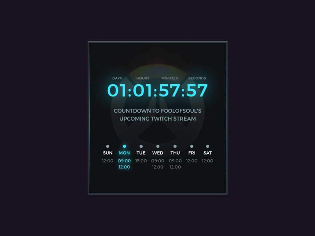Streamlabs Stream Schedule & Countdown