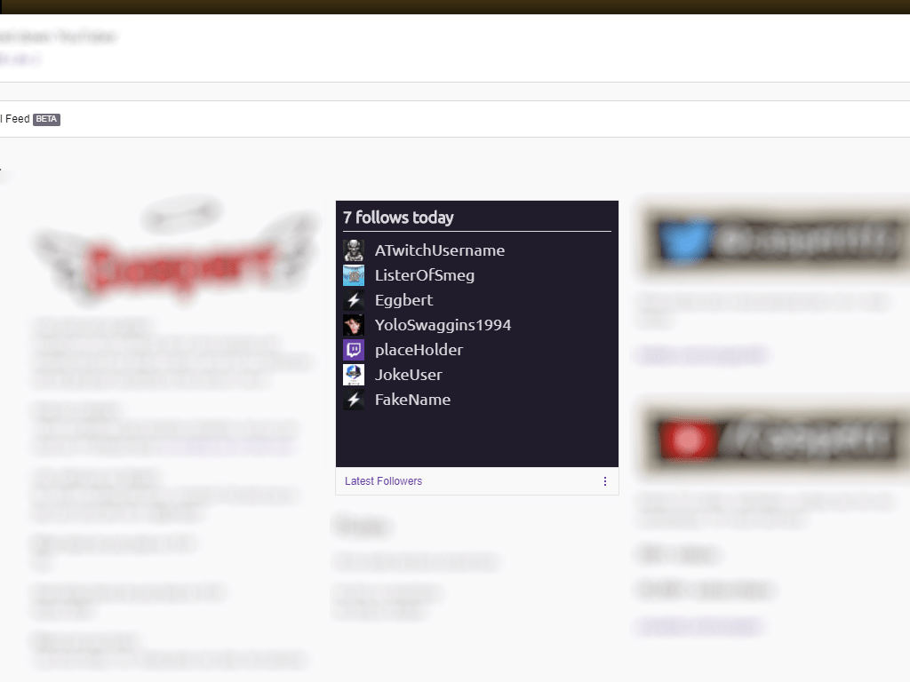 Latest followers Twitch