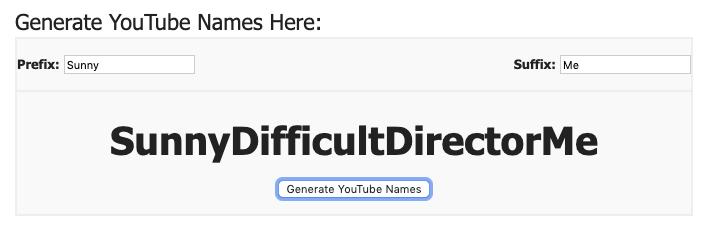 Name Generator tool
