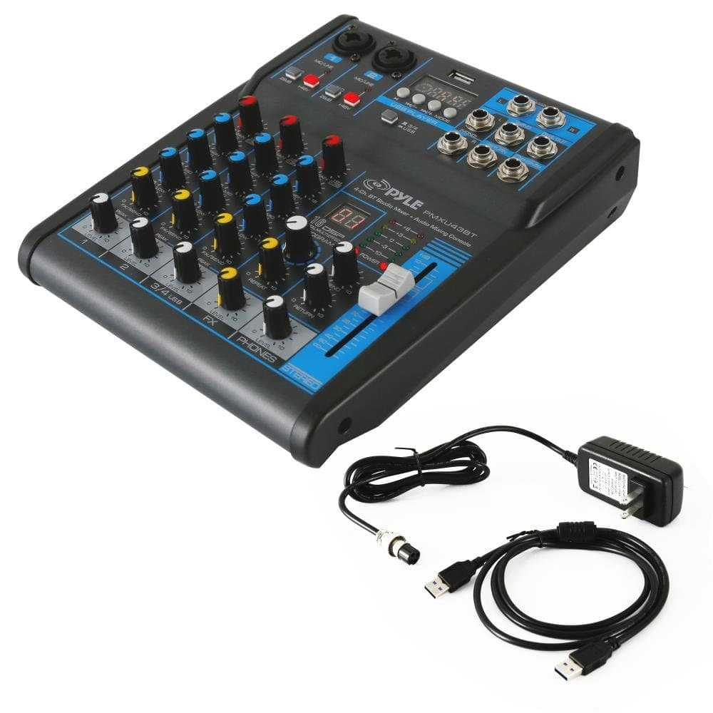 Pyle Professional 4-Channel USB Mixer