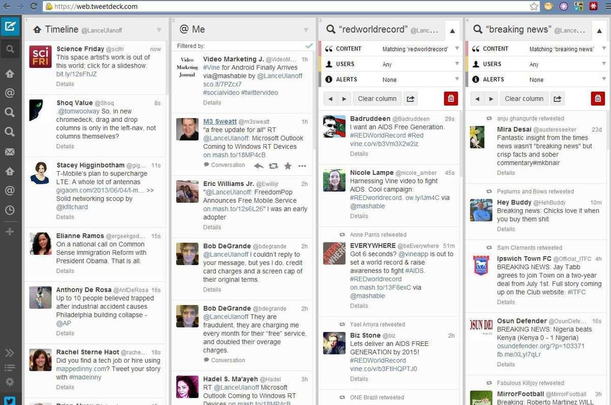 Tweetdeck-scheduled posts