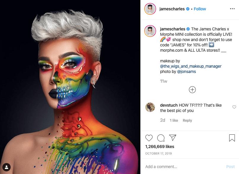 jamescharles make up artist