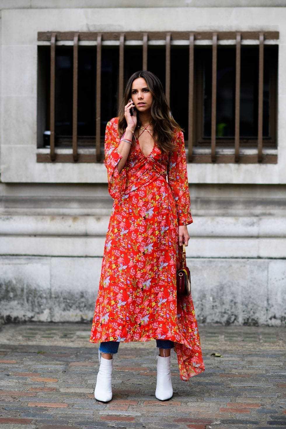 flowy dress + jeans