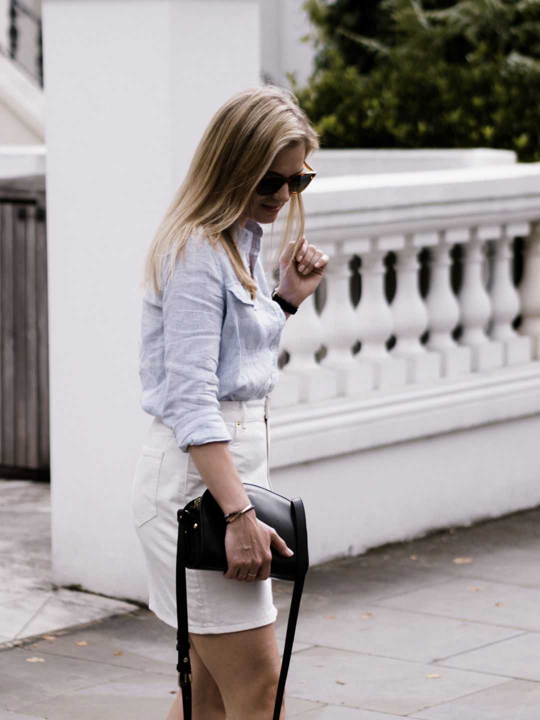 linen shirt +denim