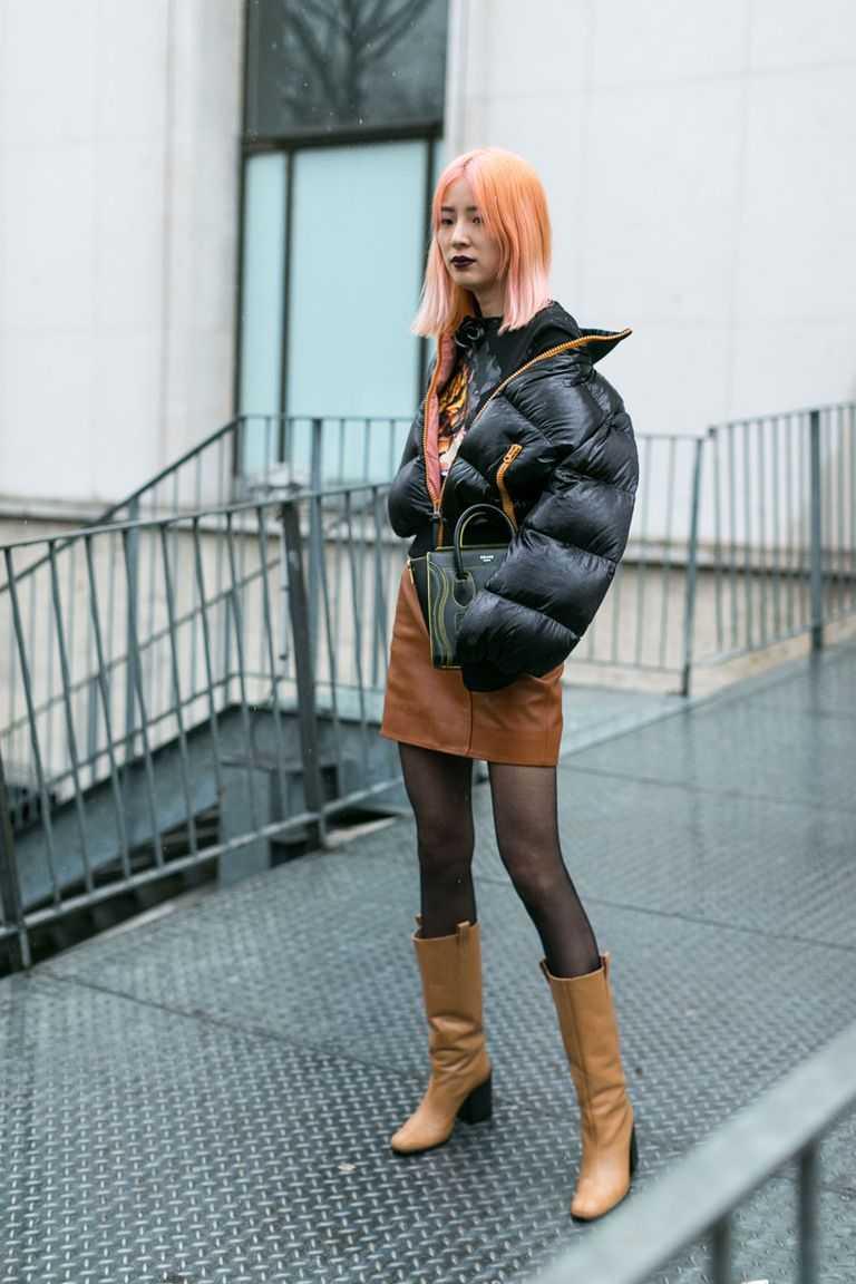 puffer jacket +skirt
